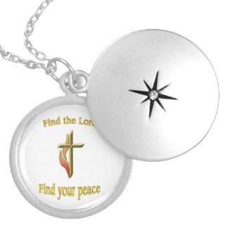 Colar Banhado A Prata Encontre o senhor para encontrar sua paz