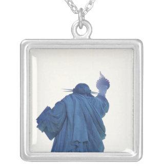 Colar Banhado A Prata Estátua da liberdade, New York, EUA RF)