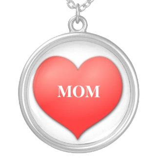 Colar Banhado A Prata Eu amo a mamã