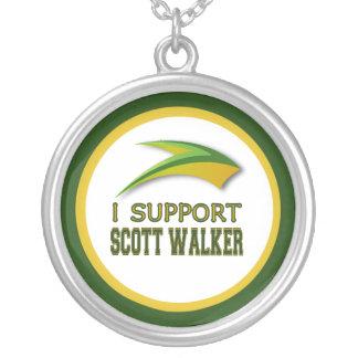 Colar Banhado A Prata Eu apoio o caminhante de Scott do governador de