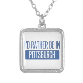 Colar Banhado A Prata Eu preferencialmente estaria em Pittsburgh