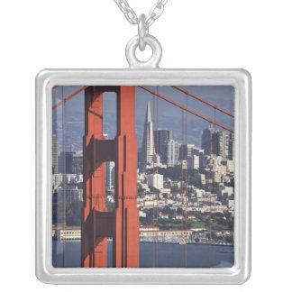 Colar Banhado A Prata EUA, Califórnia, San Francisco. Vista aérea de