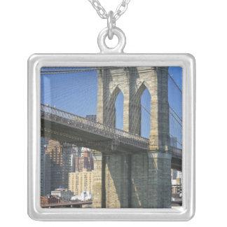 Colar Banhado A Prata EUA, New York, Nova Iorque. Ponte de Brooklyn