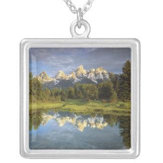 Colar Banhado A Prata EUA, Wyoming, parque nacional grande de Teton. 2
