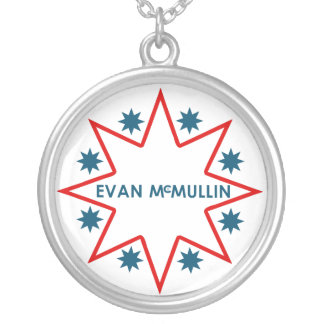 Colar Banhado A Prata Evan McMullin