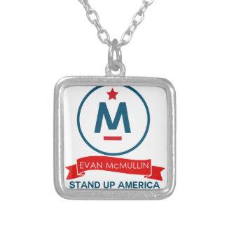 Colar Banhado A Prata Evan McMullin - levante-se América!