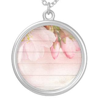 Colar Banhado A Prata Flor de cerejeira