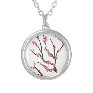 Colar Banhado A Prata Flor de cerejeira cor-de-rosa 25, Tony Fernandes
