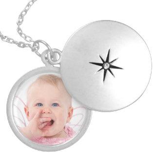 Colar Banhado A Prata Foto personalizada bonito do bebê