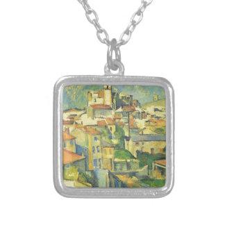 Colar Banhado A Prata Gardanne por Paul Cezanne