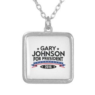 Colar Banhado A Prata Gary Johnson para o presidente