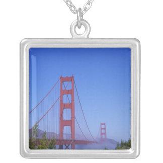 Colar Banhado A Prata Golden gate bridge, San Francisco, Califórnia,