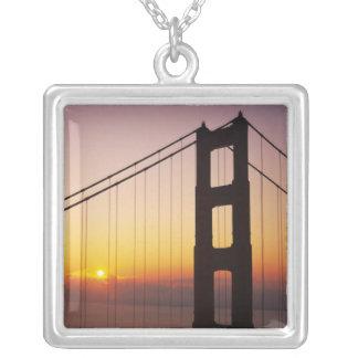 Colar Banhado A Prata Golden gate bridge, San Francisco, Califórnia, 3