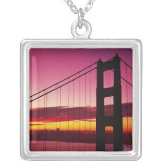 Colar Banhado A Prata Golden gate bridge, San Francisco, Califórnia, 6