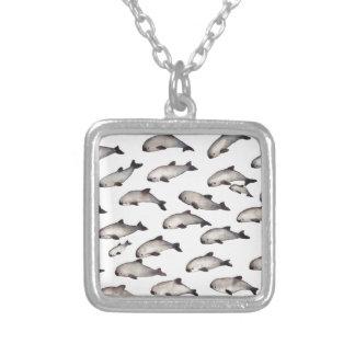 Colar Banhado A Prata golfinho da toninha do vaquita 30