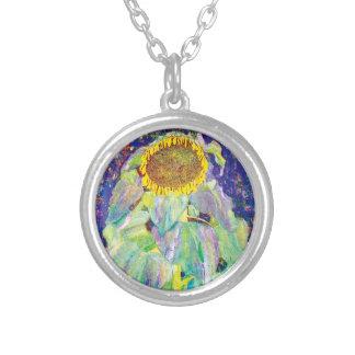 Colar Banhado A Prata Gustavo Klimt - a pintura das belas artes do