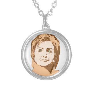 Colar Banhado A Prata Hillary Clinton