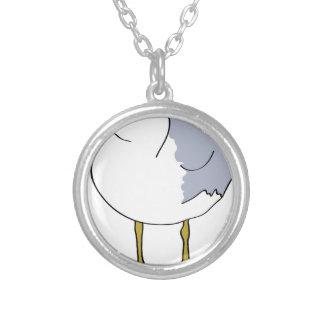 Colar Banhado A Prata Ilustração da gaivota