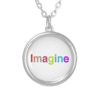 Colar Banhado A Prata Imagine o presente colorido da inspiração do
