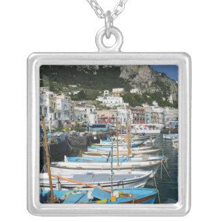 Colar Banhado A Prata ITALIA, Campania, (baía de Nápoles), CAPRI: Porto
