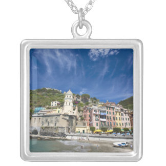 Colar Banhado A Prata Italia, Cinque Terre, Vernazza, porto e igreja 2