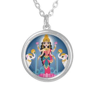 Colar Banhado A Prata Lakshmi
