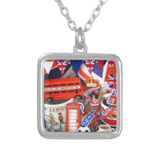 Colar Banhado A Prata Lembranças britânicas