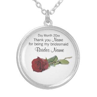 Colar Banhado A Prata Lembranças do casamento, presentes, ofertas para
