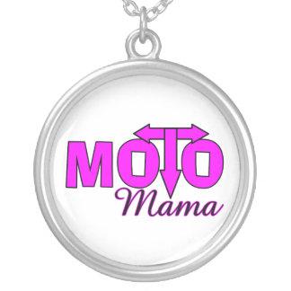 Colar Banhado A Prata Mama de Moto