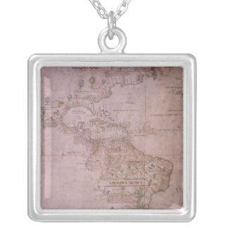 Colar Banhado A Prata Mapa do mundo novo, c.1532