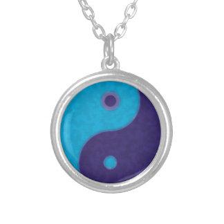 Colar Banhado A Prata meditação tao do zen de yang do yin