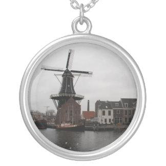 """Colar Banhado A Prata Moinho de vento """"De Adriaan"""", Haarlem"""
