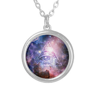 Colar Banhado A Prata Nebulosa de Illuminati