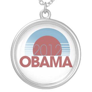 Colar Banhado A Prata Obama 2012