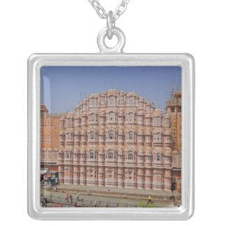 Colar Banhado A Prata Palácio dos ventos (Hawa Mahal), Jaipur, India,