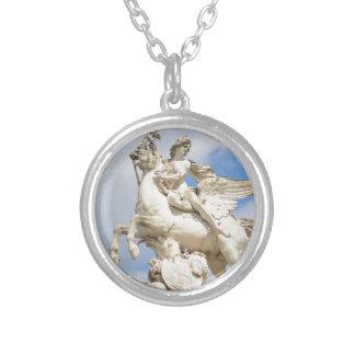 Colar Banhado A Prata Pegasus