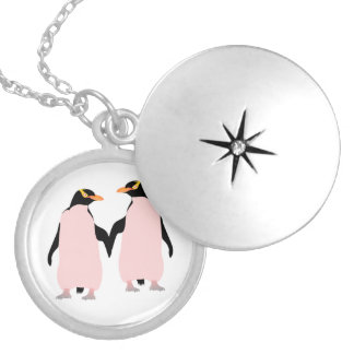 Colar Banhado A Prata Pinguins lésbicas do orgulho gay que guardaram as
