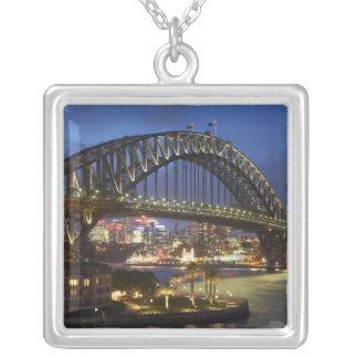 Colar Banhado A Prata Ponte de porto de Sydney e hotel de Hyatt Sydney