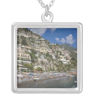 Colar Banhado A Prata Praia em Positano, Campania, Italia