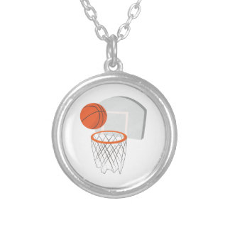 Colar Banhado A Prata Rede do basquetebol