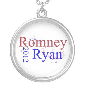 Colar Banhado A Prata Romney/onda estrela de Ryan