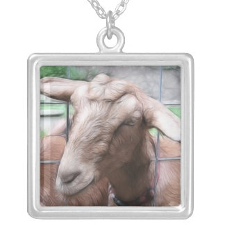 Colar Banhado A Prata Sandy a cabra na porta