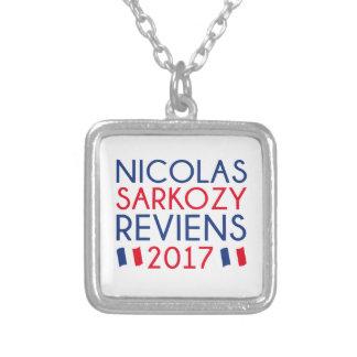 Colar Banhado A Prata Sarkozy Reviens 2017