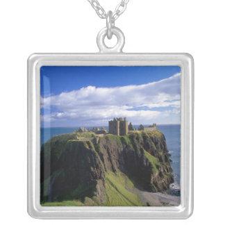 Colar Banhado A Prata Scotland, Aberdeen. Castelo de Dunnotar
