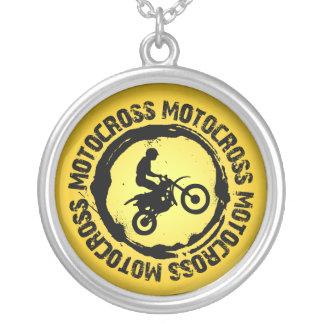 Colar Banhado A Prata Selo agradável 1 do motocross