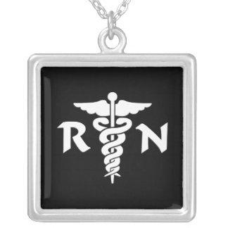Colar Banhado A Prata Símbolo médico do RN