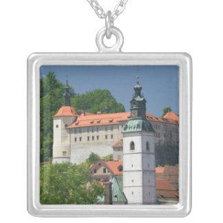 Colar Banhado A Prata SLOVENIA, GORENJSKA, Skofja Loka: Igreja do St.