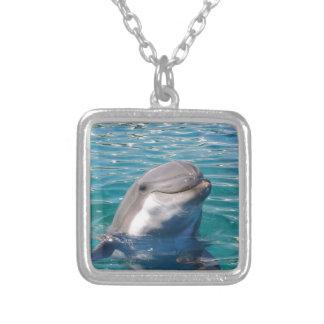Colar Banhado A Prata Sorriso do golfinho