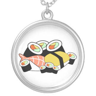 Colar Banhado A Prata Sushi
