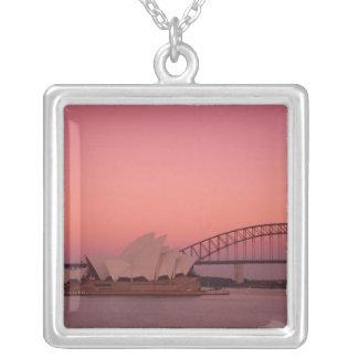 Colar Banhado A Prata Teatro da ópera de Sydney e porto, sul novo